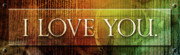 Protection Mixed Media Posters - I Love You - Plaque Poster by Shevon Johnson