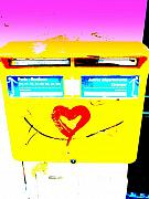 Europe Digital Art - I love You ... French Mailbox style  by Funkpix Photo  Hunter