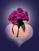 Still Life Digital Art - I love you by Gerlinde Keating - Keating Associates Inc