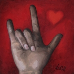 Sign Language Prints - I Love You Print by Jindra Noewi