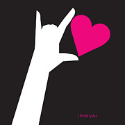 Sign Language Digital Art Prints - I Love You Sign Print by Tim Nyberg