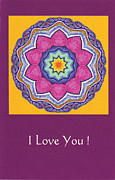Chakra Paintings - I Love You by Tulsi Devi Art