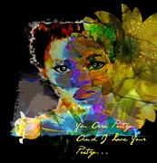 Faniart Africa America Posters - I Love Your Poetry Poster by Fania Simon