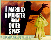 Monster Movies Framed Prints - I Married A Monster From Outer Space Framed Print by Everett