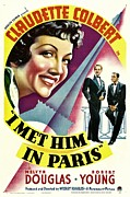 Met Prints - I Met Him In Paris, Claudette Colbert Print by Everett