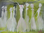 Ballet Dancers Paintings - I need pizza by Judith Desrosiers