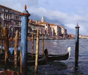 Guido Borelli Framed Prints - I Pali Blu Framed Print by Guido Borelli