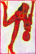 Little Girls98 Paintings - I Plaid Raja by Ricky Sencion