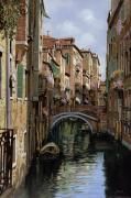 Canal Painting Originals - I Ponti A Venezia by Guido Borelli