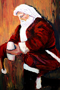 Santa Claus Paintings - I pray for the strength to make things better by Frank Botello