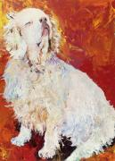 Spaniels Paintings - I Refuse by Pat Saunders-White