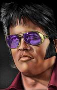 Singer  Paintings - I Remember Elvis by Reggie Duffie