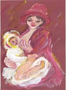 Breastfeeding Paintings - I Remember Mamma by Anna Angelou