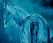 Wild Horse Mixed Media Prints - I See You Print by Catron Williams