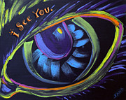 See You Painting Framed Prints - I See You. Framed Print by Jana Lynch