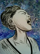 Icons Painting Originals - I Sing the Blues by Stacy Baer