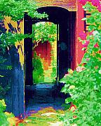 Diane Berry Paintings - I stand at the door and knock by Diane E Berry