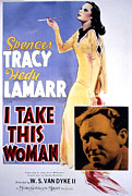 Hedy Framed Prints - I Take This Woman, Hedy Lamarr, Spencer Framed Print by Everett