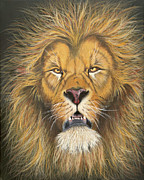 Lion Of Judah Paintings - I The Lord by Laurie Bath
