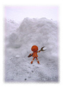 Snow Digital Art - I thinks I needs a bigger shovel Clem by Caroline Czelatko