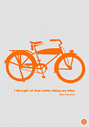 Whimsical Art Posters - I Thought Of That While Riding My Bike Poster by Irina  March