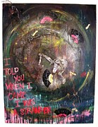 Stranger Paintings - I Told You When I Came I Was A Stranger by Kyoko Cole