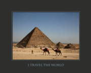 Self Help Posters - I Travel The World Cairo Poster by Donna Corless