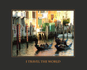 Self Help Posters - I Travel The World Venice Poster by Donna Corless