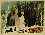 Lobbycard Framed Prints - I Walked With A Zombie, From Left Framed Print by Everett