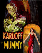 Horror Movies Painting Framed Prints - I Want My Mummy Framed Print by Kathryn Gainard