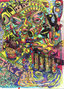 Neo-expressionism Prints - I Want To Be In That Number Print by Robert Wolverton Jr