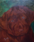 Retriever Prints Originals - I Want to Play by Maureen Diehl