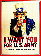 Uncle Sam Posters - I Want You Poster by Bill Cannon