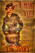Flagg Digital Art Posters - I Want You Poster by Dan Stone