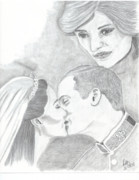 Duchess Drawings Posters - I Will Always Be There Poster by DebiJeen Pencils