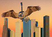 Flying Guitars Posters - I Will Always love You Huston Poster by Eric Kempson