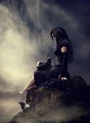 Photomanipulation Digital Art Prints - I will be waiting  Print by Cindy Grundsten