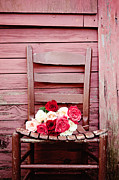 Vintage Rose Framed Prints - I will be waiting Framed Print by Kim Fearheiley