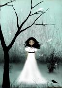 White Dress Digital Art Posters - I Will Be Your Light Poster by Charlene Zatloukal