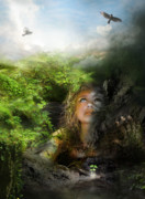 Light Digital Art Prints - I will break free Print by Karen Koski