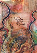 Worship Mixed Media Posters - I will rejoice in my God Poster by Cassandra Donnelly