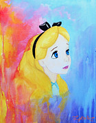 Alice In Wonderland Prints Paintings - I Wonder by Lynsie Petig