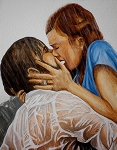 Kissing Paintings - I wrote you everyday for a year by Al  Molina