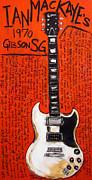 Ian Mackaye 1970 Gibson Sg Print by Karl Haglund