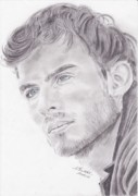 Celebrities Drawings Originals - Ian Somehalder by Annie GODET