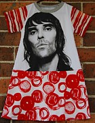 Stone Tapestries - Textiles - Ian Stone Roses Brown by Enoch And Plonk