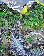 Vegetation Paintings - Iao Needle by Fay Biegun - Printscapes