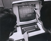 Touch Screen Posters - Ibm Programmers Work At A Cathode Ray Poster by Everett