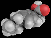 Healthcare And Medicine Art - Ibuprofen Drug Molecule by Laguna Design