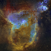 Cassiopeia Posters - Ic 1805, The Heart Nebula Poster by Rolf Geissinger